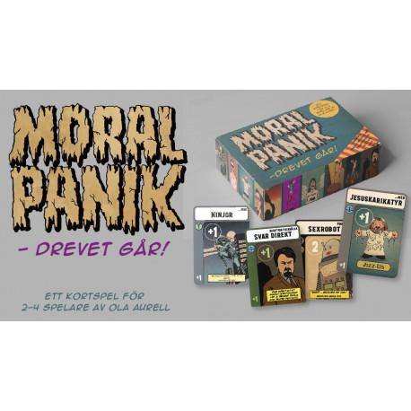 Moralpanik - drevet går! (kortspel) (FÖRHANDSBOKNING)
