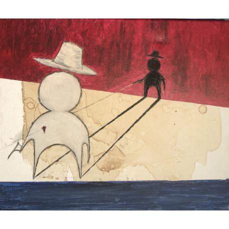 Tavla - En ensam cowboy I (orginal) (förhandsbokning)